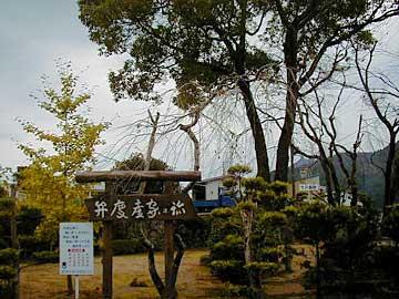弁慶産屋の楠跡